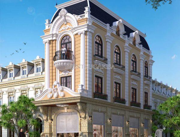 Mẫu nhà phố 3 tầng tân cổ điển đẹp ấn tượng (CĐT: bà Yến - Đồng Nai) KT32132