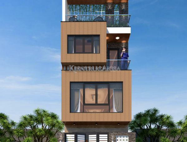 Mẫu thiết kế nhà phố hiện đại 4 tầng (CĐT: ông Hà - Bắc Giang) KT41026