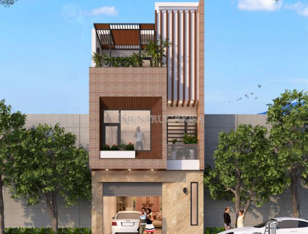 Mẫu thiết kế nhà lô 3 tầng hiện đại đẹp KT31134