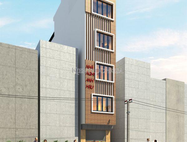 Mẫu nhà lô hiện đại 6 tầng mặt tiền 3m (CĐT: ông Hậu - Hà Nội) KT61036