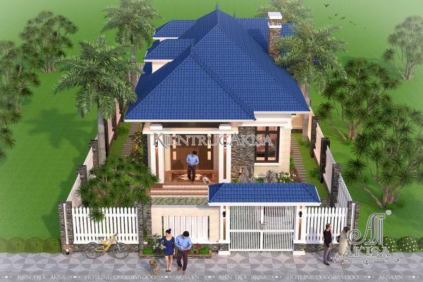 Mẫu biệt thự 1 tầng mặt tiền 10m đẹp hiện đại (CĐT: ông Trang – Thái Bình) BT11047