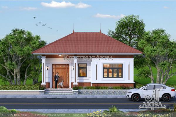 Mẫu nhà 1 tầng hiện đại 2 phòng ngủ (CĐT: bà Nga – Đồng Nai) BT11128