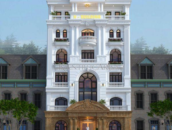Thiết kế nhà văn phòng tân cổ điển (CĐT: ông Phúc - Bình Dương) KT82126