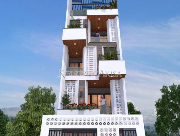 Mẫu nhà phố hiện đại 5 tầng đẹp (CĐT: ông Giang - Hồ Chí Minh) KT51040