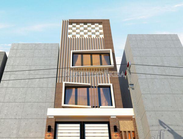 Mẫu thiết kế nhà phố hiện đại đẹp 4 tầng (CĐT: bà Hải - TP Hồ Chí Minh) KT41009