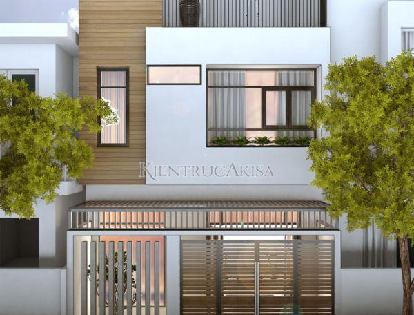 Mẫu thiết kế nhà phố hiện đại 3 tầng KT31025