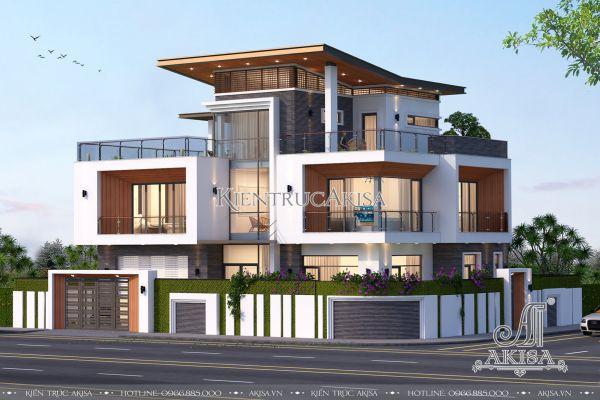 Mẫu biệt thự hiện đại 3 tầng 2 mặt tiền (CĐT: ông Chung - Quảng Ninh) BT31178