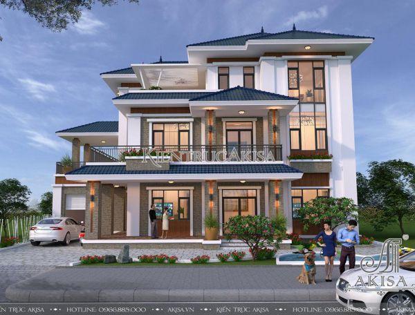 Mẫu thiết kế nhà biệt thự hiện đại 3 tầng đẹp (CĐT: ông Vinh - Hưng Yên) BT31163