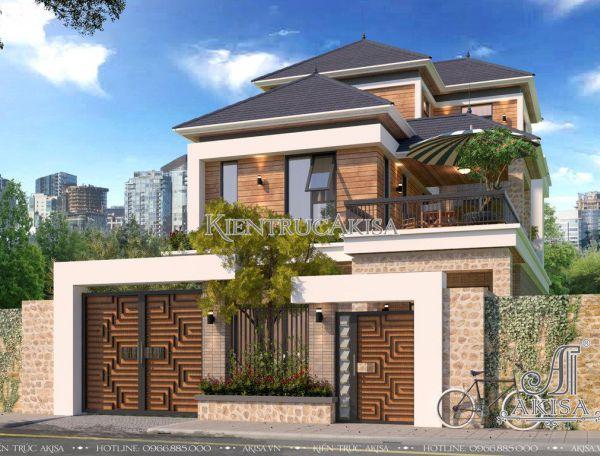 Thiết kế biệt thự 3 tầng hiện đại mái Nhật (CĐT: bà Ánh - Tp Hồ Chí Minh) BT31194