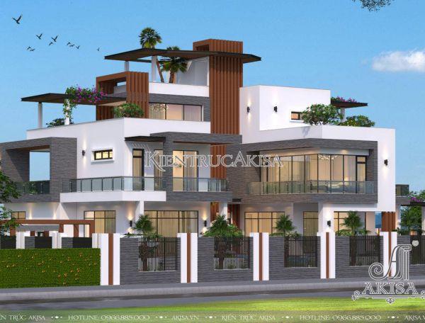 Siêu phẩm thiết kế biệt thự dinh thự hiện đại đẹp (ông Thành - Thái Nguyên) BT31177
