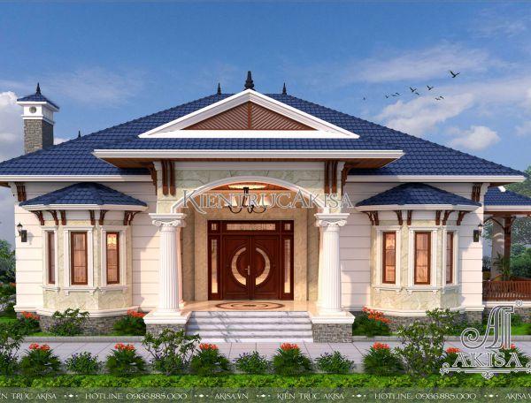Mẫu nhà vườn mái Nhật 1 tầng đẹp mặt tiền 14m (CĐT: Ông Điệp – Nam Định) BT12073