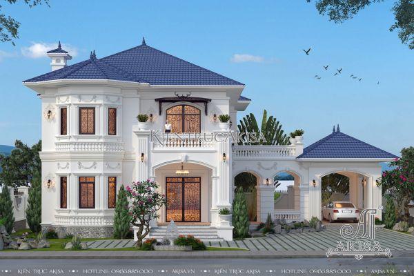 Mẫu biệt thự tân cổ điển châu Âu đẹp tại Vĩnh Long (CĐT: bà Thu - Vĩnh Long) BT22186