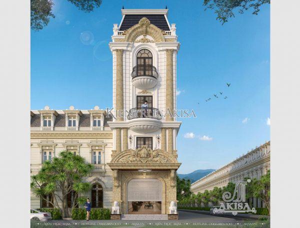 Thiết kế nhà phố 5 tầng tân cổ điển Pháp (CĐT: bà Xuân - Hà Nam) KT52141