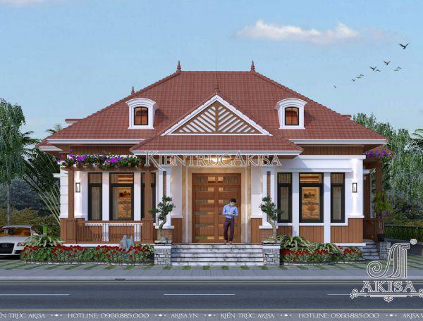 Biệt thự nhà vườn mái Nhật 1 tầng mini đẹp tại Nghệ An (CĐT: ông Hiếu - Nghệ An) BT11151