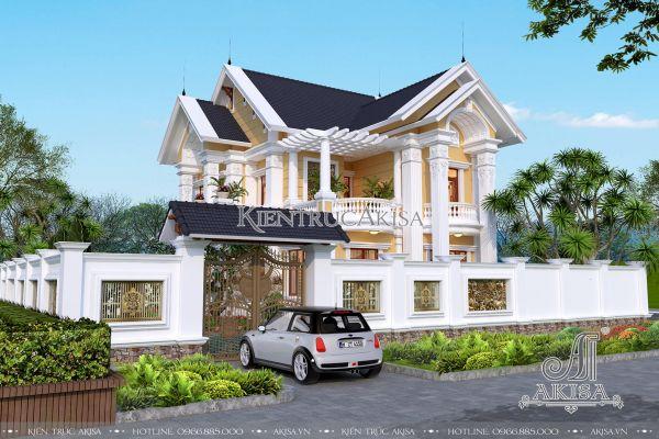 Mẫu biệt thự 2 tầng tân cổ điển mái Thái (CĐT: ông Hoài - Thái Nguyên) BT22203