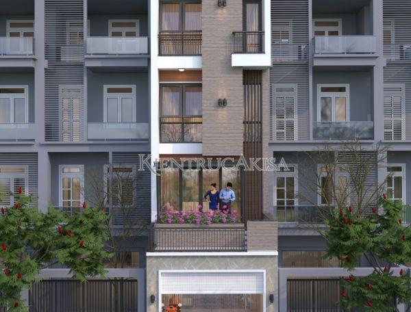 Thiết kế nhà ống hiện đại 5 tầng đẹp (CĐT: bà Hằng - Thái Nguyên) KT52204