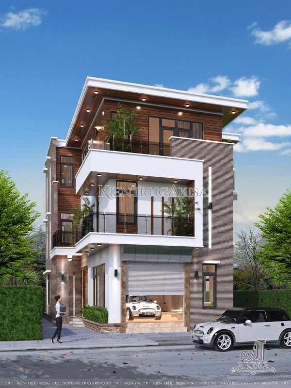 Thiết kế biệt thự phố hiện đại đẹp mặt tiền 10m BT31103