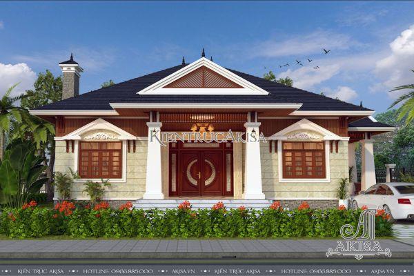 Biệt thự nhà vườn 1 tầng mái thái đẹp ấn tượng (Bà Xuyến – Bình Dương) BT11069