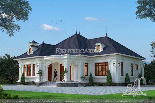Thiết kế biệt thự 1 tầng tân cổ điển đẹp (CĐT: ông Thành - Phú Thọ) BT12215