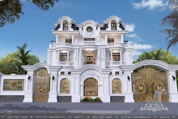 Thiết kế biệt thự lâu đài phong cách Pháp (CĐT: ông Phúc - Quảng Ninh) BT32113