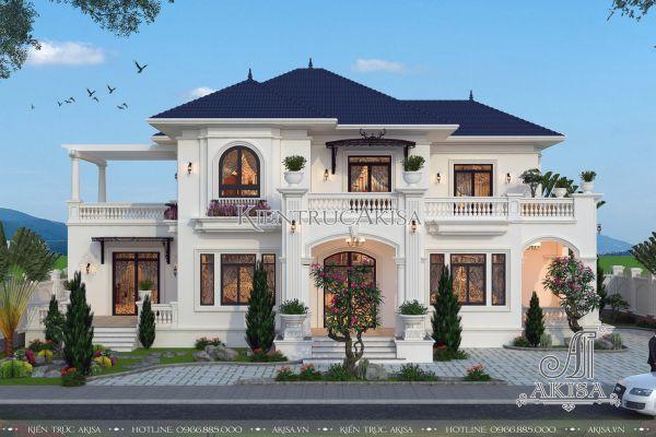Mẫu biệt thự 2 tầng đẹp tân cổ điển (CĐT: bà Thoa - Nam Định) BT22202