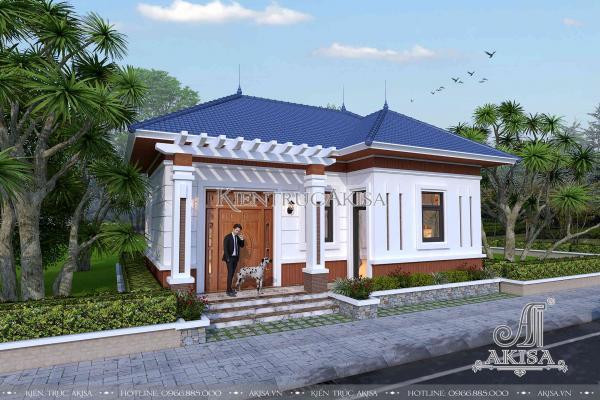 Mẫu nhà biệt thự cấp 4 mái Nhật hiện đại đẹp (ông Khước - Hà Nam) BT11247