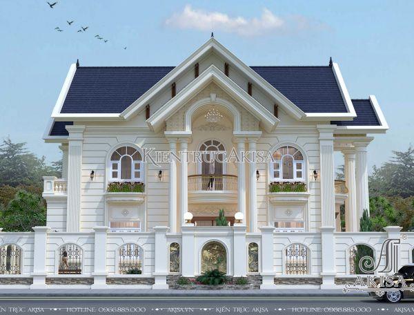 Thiết kế biệt thự 2 tầng tân cổ điển châu Âu (CĐT: ông Lập - Bình Dương) BT22104