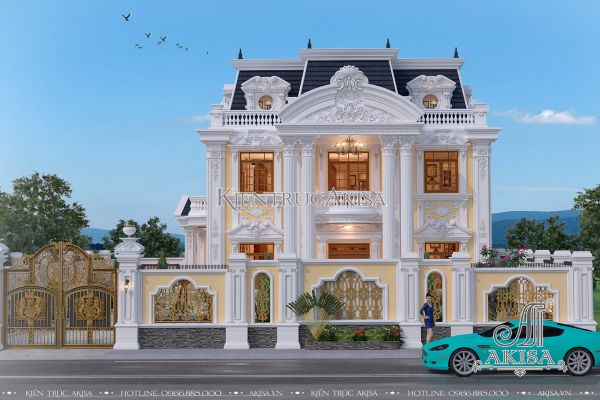 Vẻ đẹp đẳng cấp mẫu biệt thự 2 tầng kiến trúc Pháp (CĐT: ông Văn - Ba Vì, Hà Nội) BT22119
