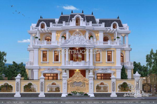 Mẫu thiết kế biệt thự cổ điển đẹp 3 tầng đẳng cấp (CĐT: ông Thiết - Bắc Giang) BT32208
