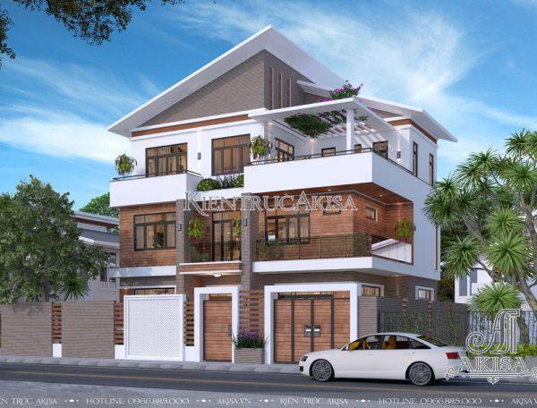 Mẫu biệt thự 3 tầng hiện đại (CĐT: bà Phượng - Hà Nội) BT31244