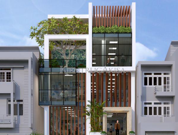 Thiết kế trụ sở văn phòng hiện đại 5 tầng (CĐT: bà Trang - Hải Phòng) KT51232