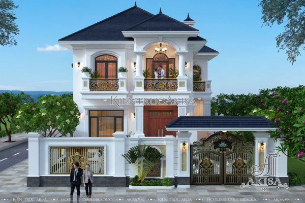 Biệt thự tân cổ điển 2 tầng đẹp tiện nghi sang trọng (CĐT: ông Sơn - Thái Bình) BT22230