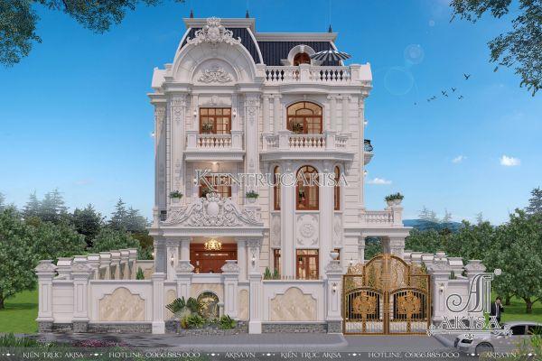 Mẫu biệt thự 3 tầng cổ điển Pháp đẹp đẳng cấp sang trọng (CĐT: ông Việt - Nghệ An) BT32248