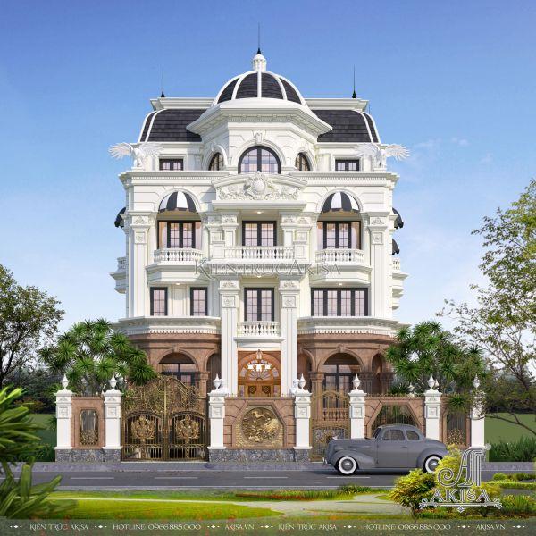 Mẫu biệt thự lâu đài 4 tầng tân cổ điển (ông Hữu - TP. Hồ Chí Minh) BT42228