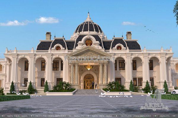Mẫu lâu đài dinh thự Pháp 2 tầng đẹp đẳng cấp (ông Biên - Lạng Sơn) BT22205