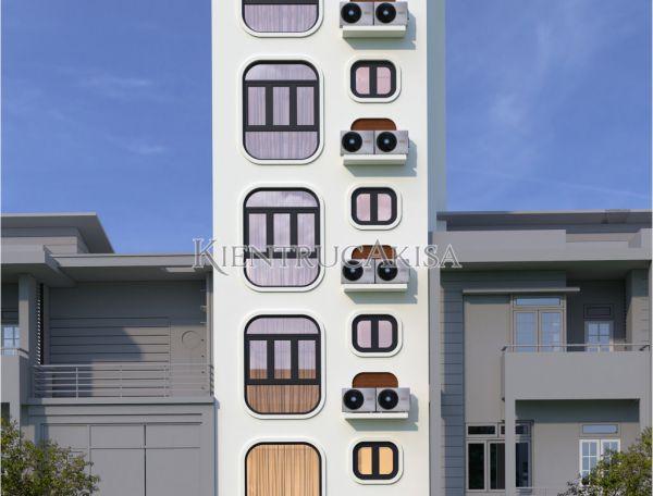 Mẫu nhà ống 7 tầng hiện đại mặt tiền 5m (CĐT: ông Quyết - Hà Nội) KT61216