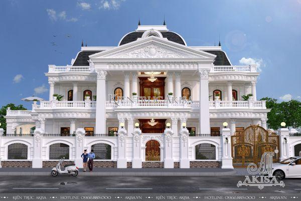 Biệt thự tân cổ điển Pháp 2 tầng đẹp (CĐT: ông Long - Quảng Trị) BT22093