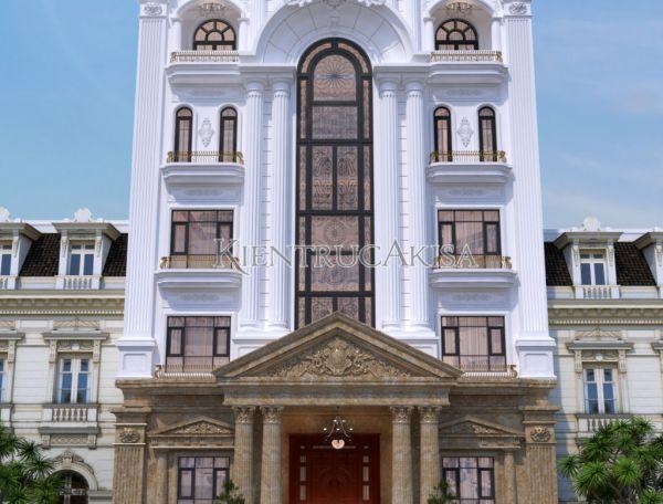 Ấn tượng với thiết kế khách sạn tân cổ điển 5 tầng (CĐT: ông Tuấn - Quảng Ninh) KT52106