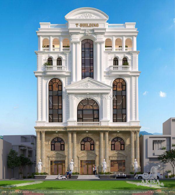 Mẫu nhà ở kết hợp văn phòng kiến trúc cách tân cổ điển (CĐT: ông Thắng - Nghệ An) KT82042