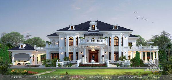 Mẫu dinh thự tân cổ điển đẹp 2 tầng tại Vĩnh Yên BT22255