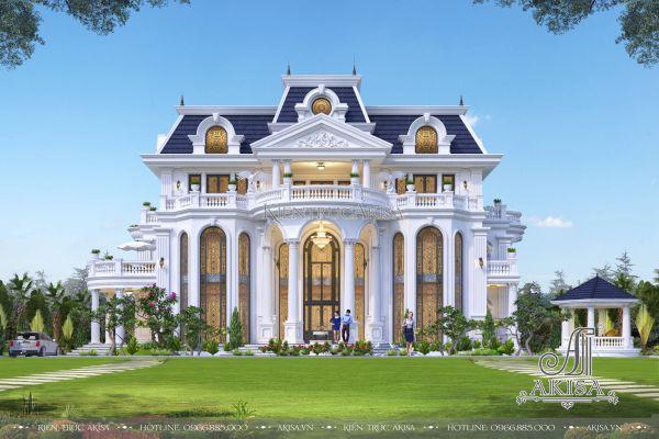 Kiệt tác biệt thự kiến trúc Pháp 3 tầng đẹp đẳng cấp (ông Dư - Thái Bình) BT32144
