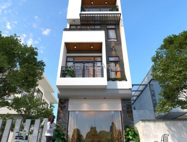 Thiết kế nhà ở 4 tầng hiện đại tại Đà Nẵng (CĐT: ông Bốn) KT41269