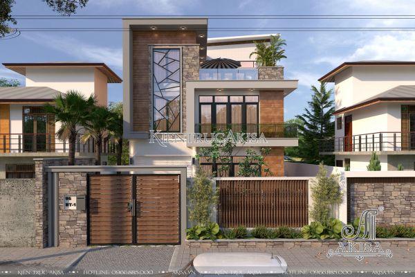 Thiết kế biệt thự hiện đại mặt tiền 10m đẹp (CĐT: ông Nhuận - Vũng Tàu) BT31195
