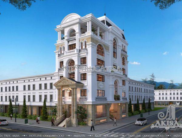 Mẫu nhà phố kết hợp văn phòng phong cách Pháp (CĐT: ông Hùng - Thái Nguyên) KT72272