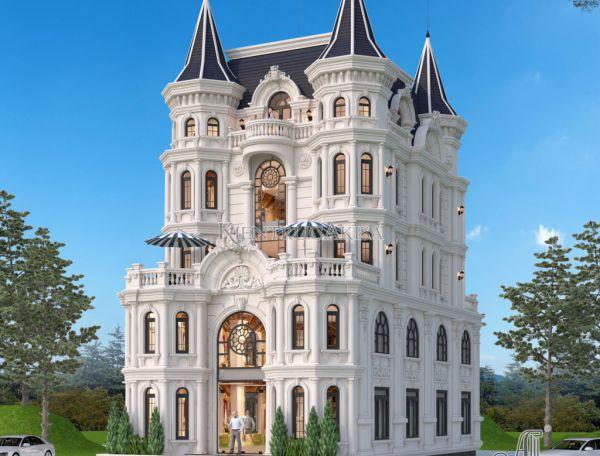 Mẫu biệt thự lâu đài 5 tầng phong cách Pháp (ông Thế - Bắc Giang) BT52267