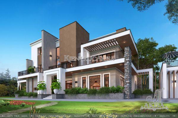 Mẫu biệt thự dinh thự 3 tầng hiện đại siêu ấn tượng (ông Lâm - Hà Nội) BT31275