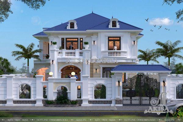 Thiết kế biệt thự 2 tầng tân cổ điển đẹp (CĐT: ông Hải - Nghệ An) BT22095