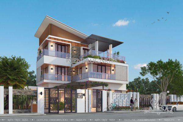 Thiết kế biệt thự hiện đại có bể bơi ngoài trời (CĐT: bà Thục - Hải Phòng) BT31225