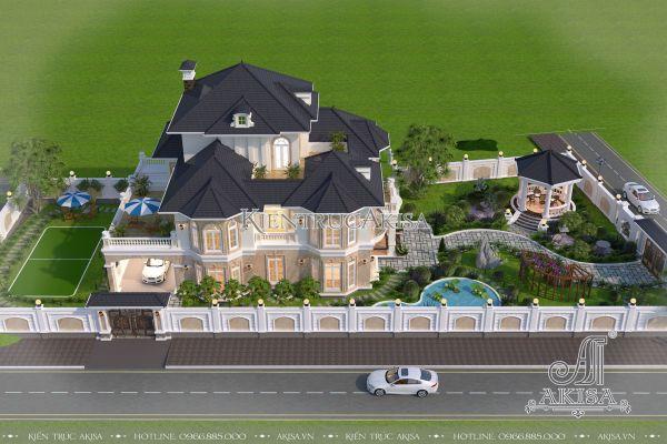 Biệt thự kiến trúc châu Âu có sân vườn đẹp (CĐT: bà Huyền - Hải Dương) BT32261