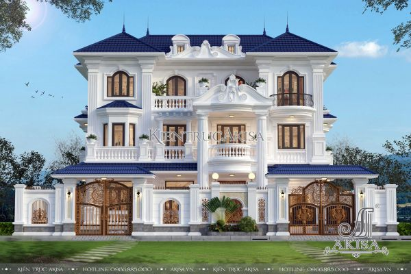 Ngỡ ngàng vẻ đẹp biệt thự tân cổ điển Pháp 3 tầng (CĐT: bà Thúy - Hà Nội) BT32287